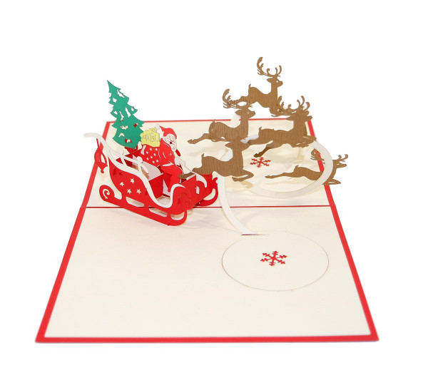 Santa auf Schlitten