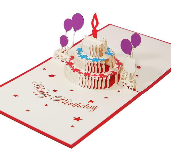Geburtstagstorte & Luftballons