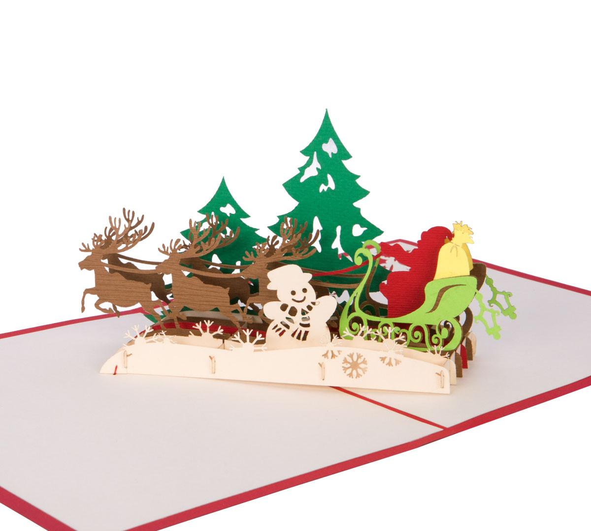 Klappkarte zu Weihnachten | 3D Kartenwelt