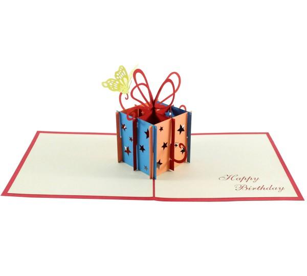 Geschenkbox mit Schmetterling
